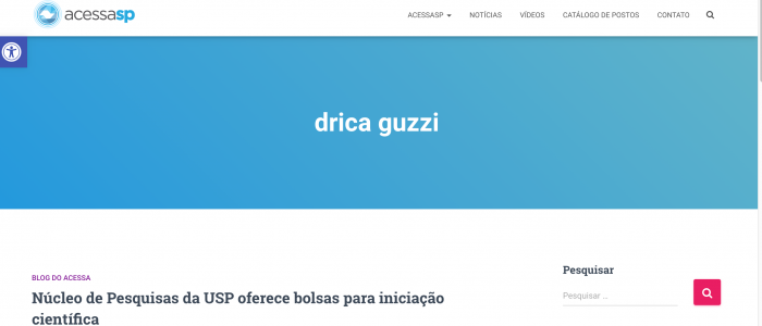 drica guzzi - AcessaSP